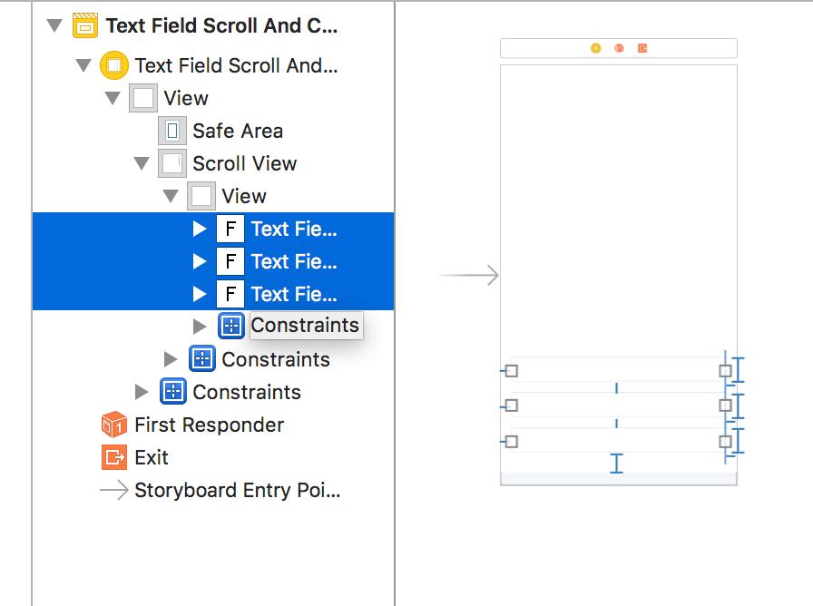 TextFieldを画面下部に配置