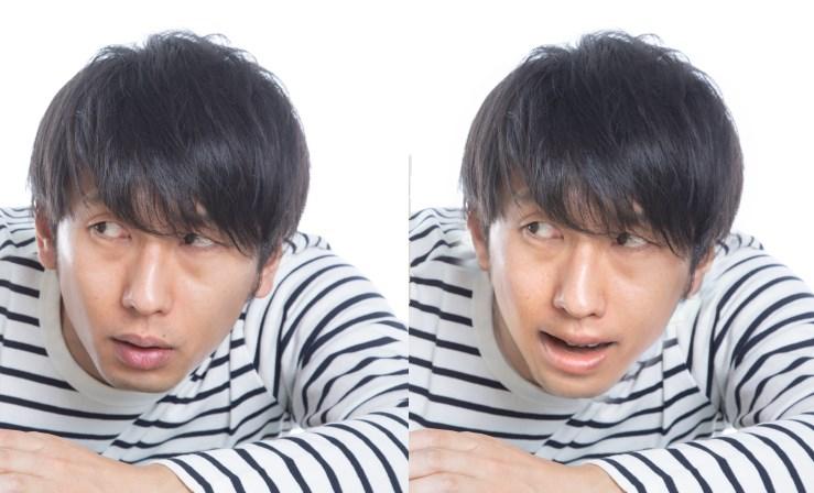 元画像→笑った顔